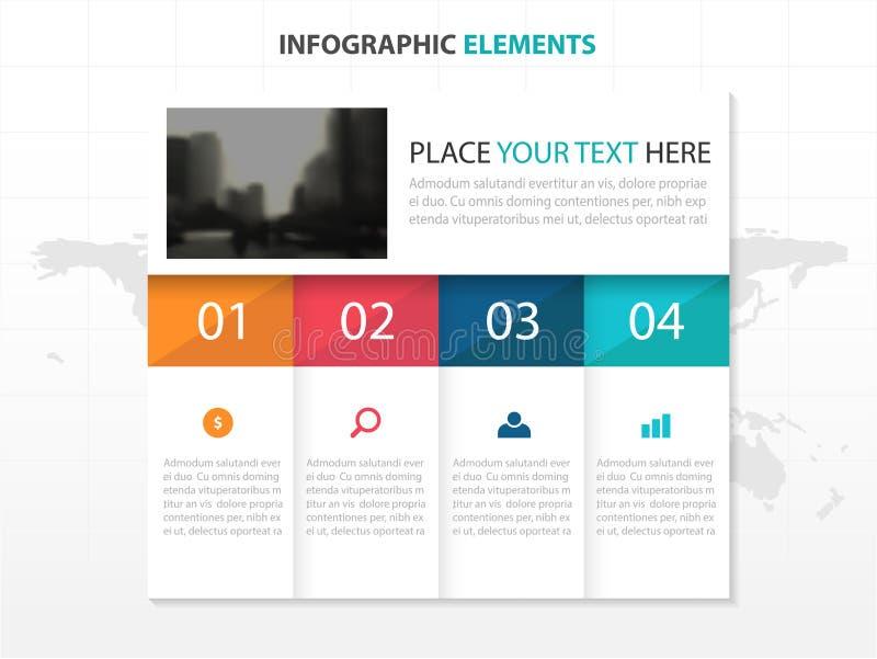 Geschäftsordner Infographics-Elemente, Design-Vektorillustration der Darstellungsschablone flache für Webdesignmarketing lizenzfreie abbildung