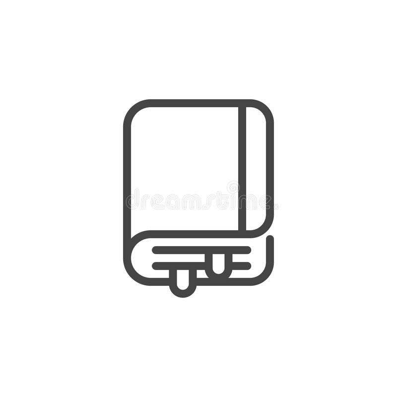 Geschäftsorganisatorikone Ordner mit Dokumenten, Visitenkartehalter, männlicher Taschenaufkleber Notizblock mit Bookmarkzeichen V vektor abbildung