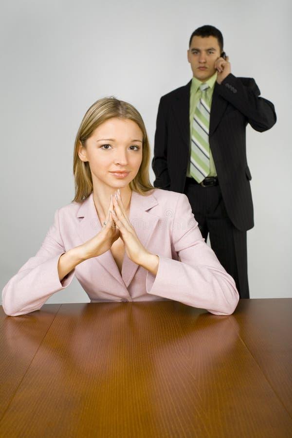 Geschäftspaare stockbild