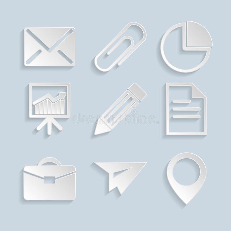 Geschäftspapier-Ikonen vektor abbildung