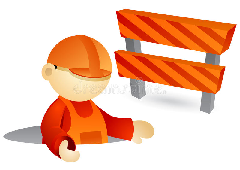 Geschäftsperson - im Bau lizenzfreie abbildung
