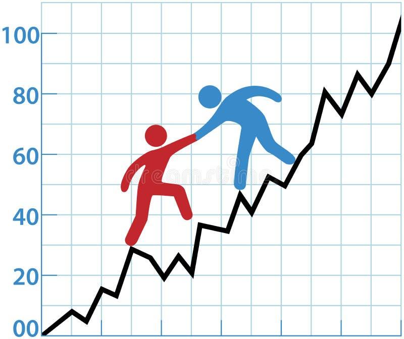 Geschäftspersonendiagramm-Hilfenrentabilität