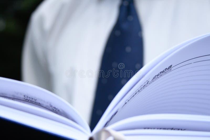 Geschäftsplaner lizenzfreie stockfotos