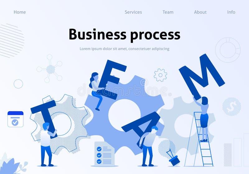 Geschäftsprozess effektiver Team Interaction Banner stock abbildung