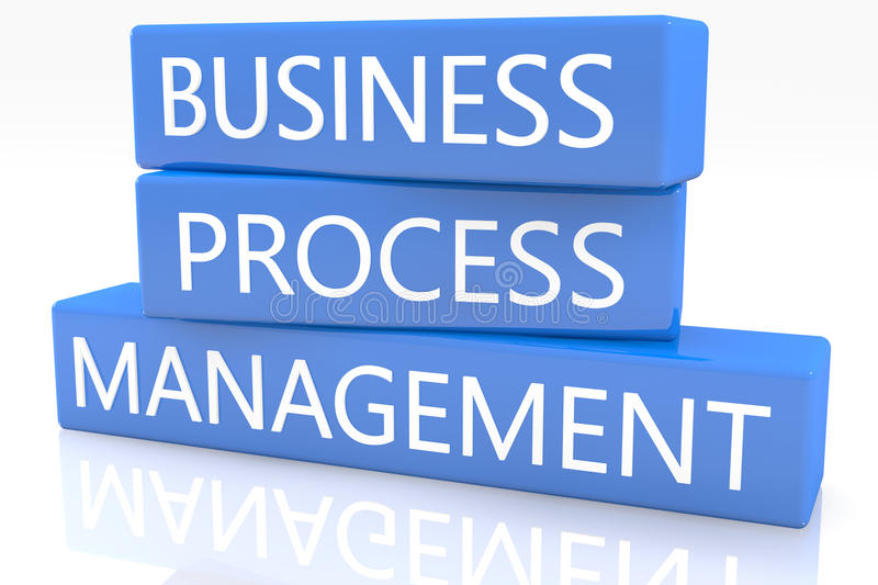 Geschäftsprozess-Management lizenzfreie abbildung