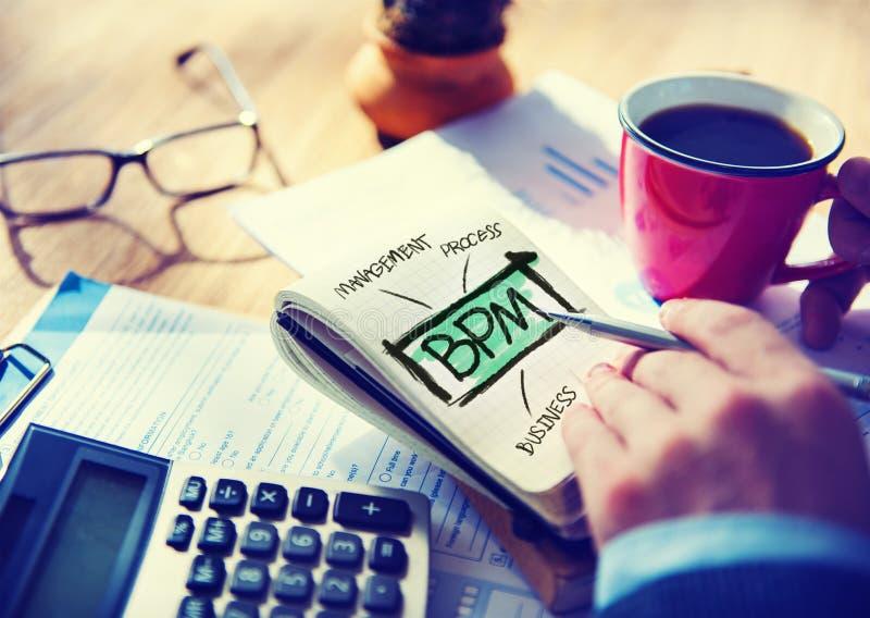 Geschäftsprozess-Management-Arbeitsfluss-Analyse-Konzept lizenzfreie stockfotos
