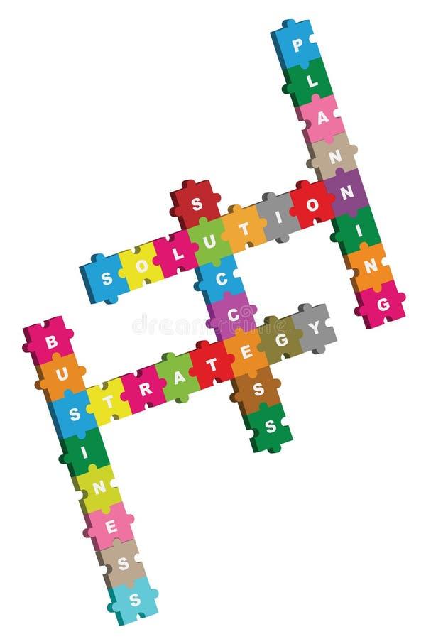 Geschäftspuzzlespiel croswword vektor abbildung