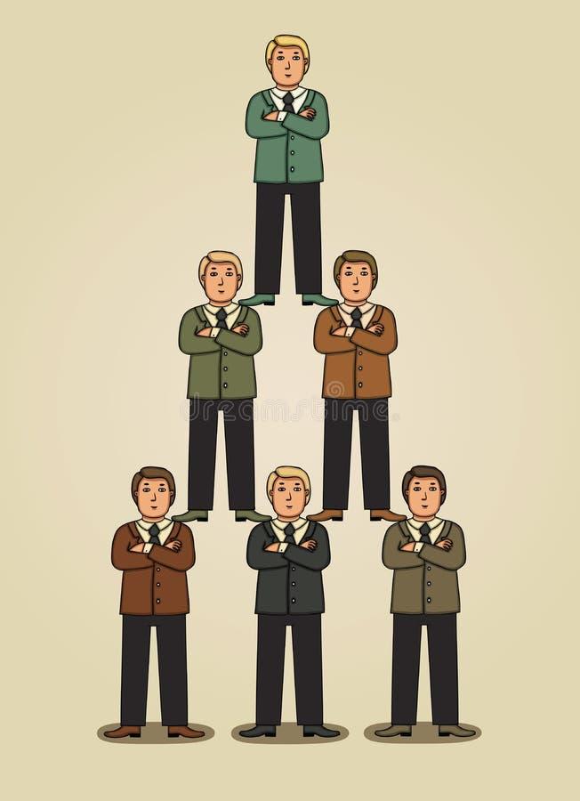 Geschäftspyramide