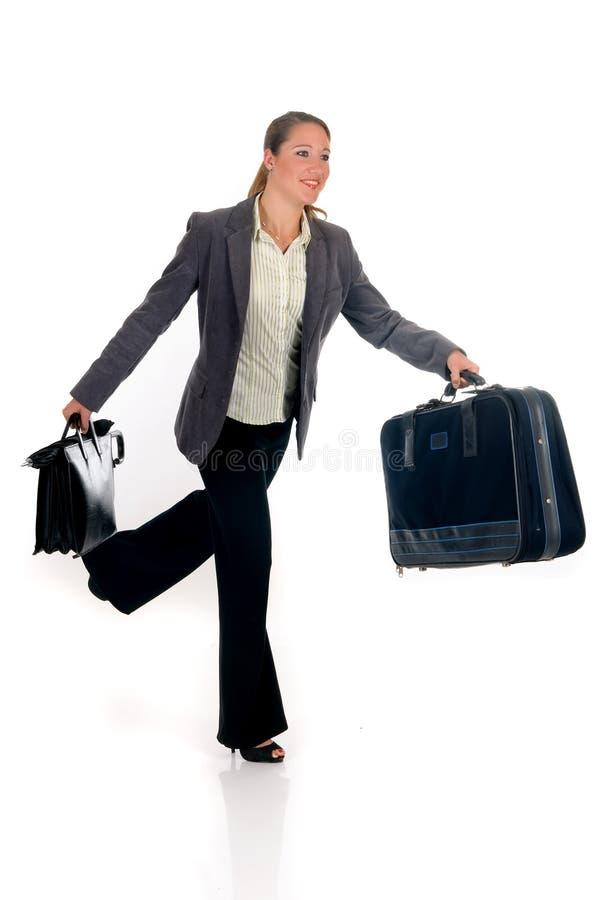Geschäftsreisendaktenkoffer lizenzfreies stockfoto