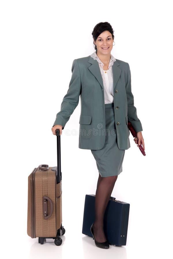 Geschäftsreisendaktenkoffer stockfoto