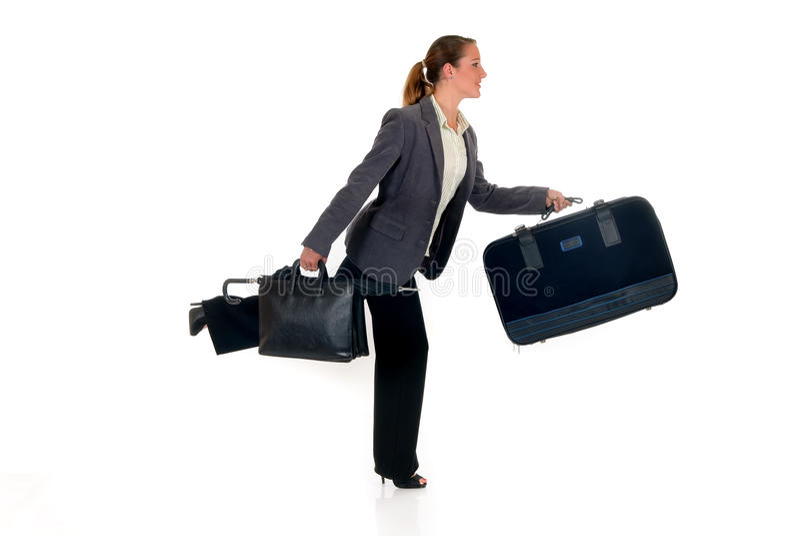 Geschäftsreisendaktenkoffer stockbild