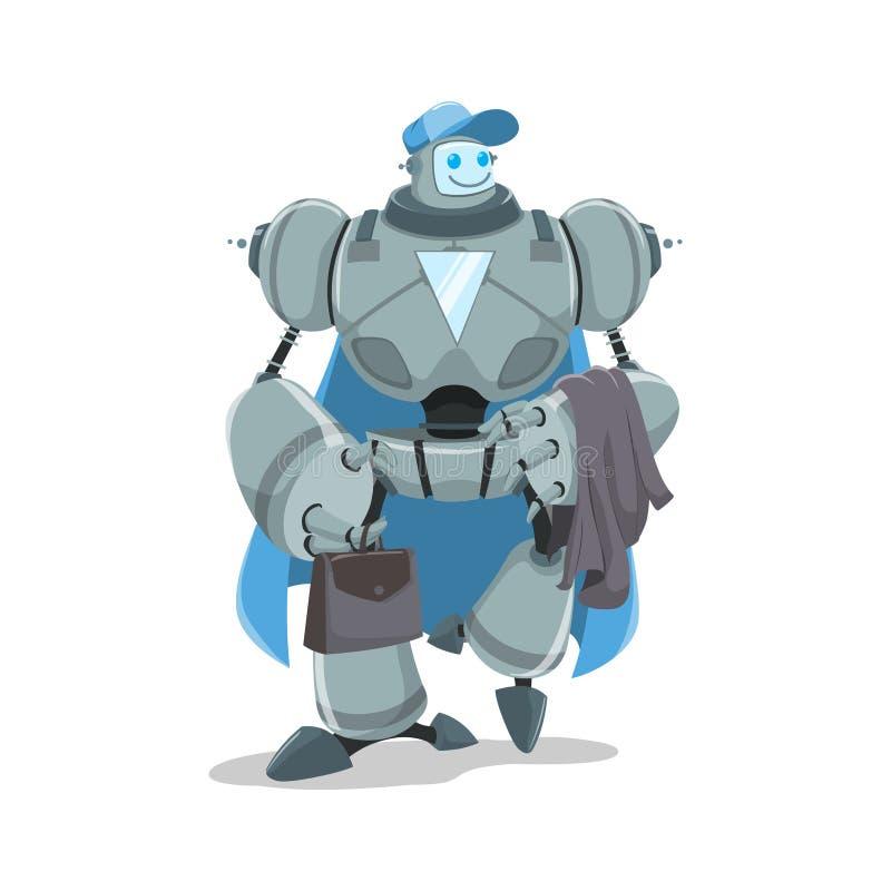 Geschäftsroboter lizenzfreie abbildung