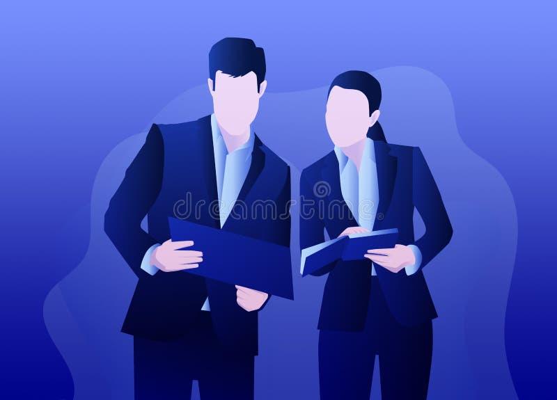 Geschäftssachen am Papier lizenzfreie abbildung
