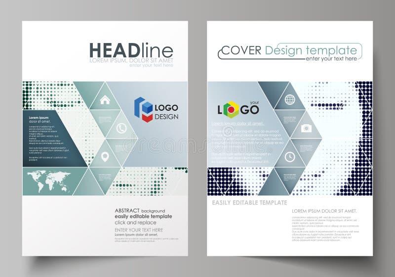 Geschäftsschablonen für Broschüre, Zeitschrift, Flieger, Broschüre Umfassen Sie Designschablone, abstrakten Plan in der Größe A4  lizenzfreie abbildung