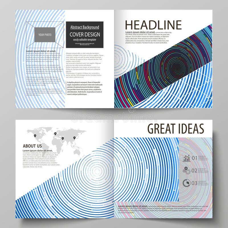 Geschäftsschablonen für quadratisches Designbi falten Broschüre, Zeitschrift, Flieger, Broschüre vektor abbildung