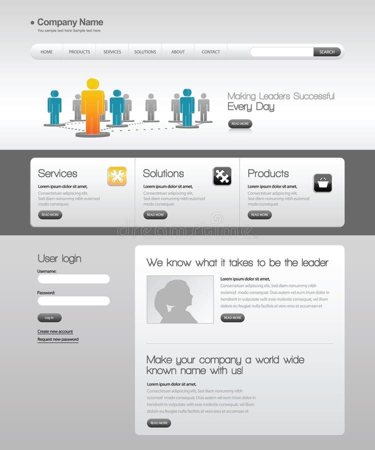 Geschäftsschablonenweb site. lizenzfreie abbildung