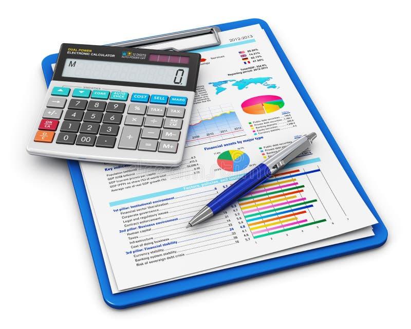 Geschäftsfinanzierung und Bilanzauffassung stock abbildung