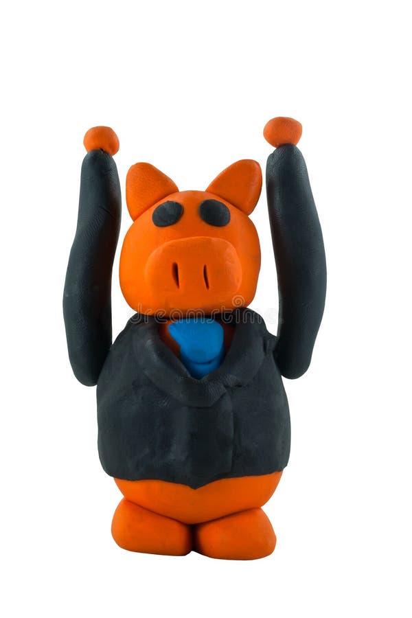 Geschäftsschweinhand oben lizenzfreies stockfoto