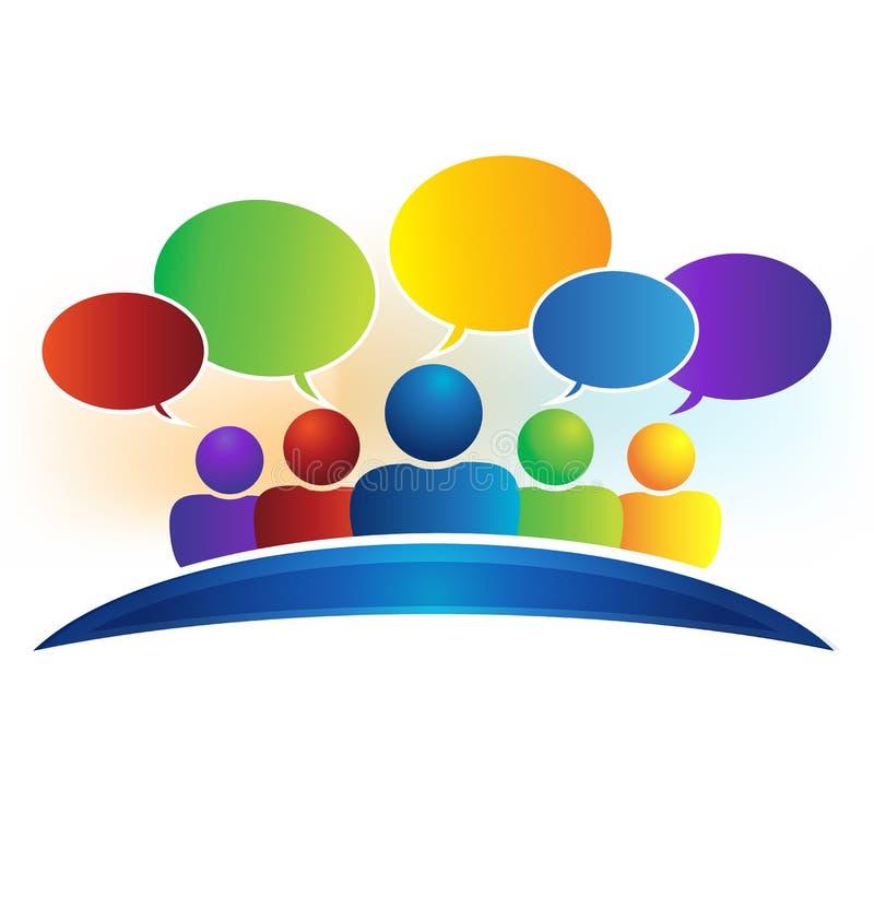 Geschäftssocial media-Netzsprache-Blasenlogo lizenzfreie abbildung