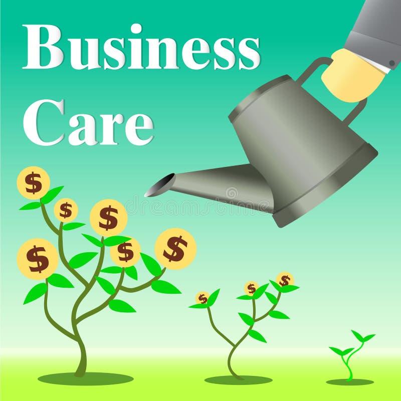 Geschäftssorgfaltwachstums-Vektorillustration lizenzfreie stockbilder