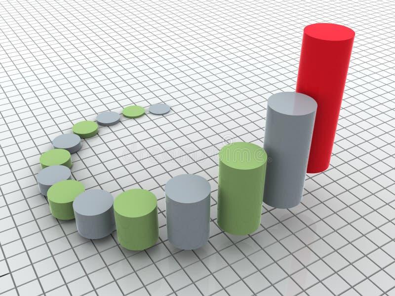 Geschäftsstatistiken lizenzfreie abbildung