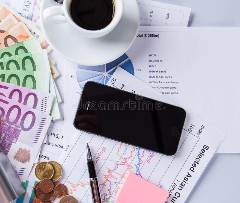 Geschäftsstillleben im Büro lizenzfreies stockfoto