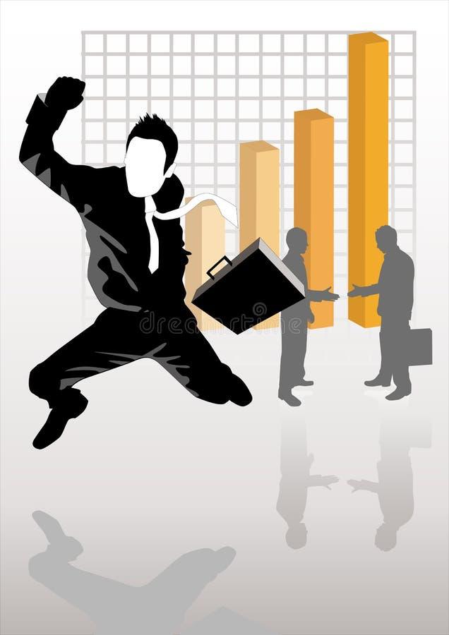 Geschäftsstrategie-Erfolg lizenzfreie abbildung