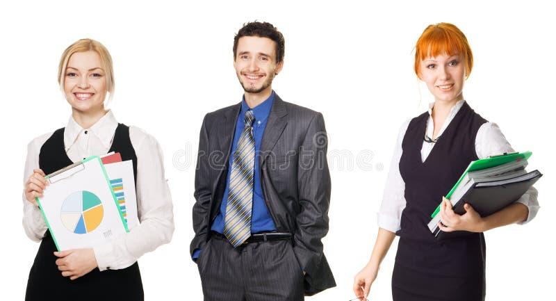 Geschäftsteam über weißem Hintergrund lizenzfreies stockfoto