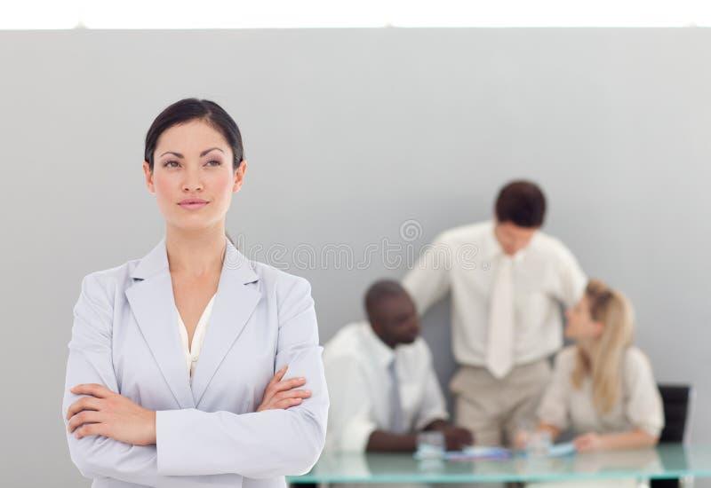 Download Geschäftsteam Bei Der Arbeit Im Büro Stockbild - Bild von geschäftsfrau, menschlich: 9098629