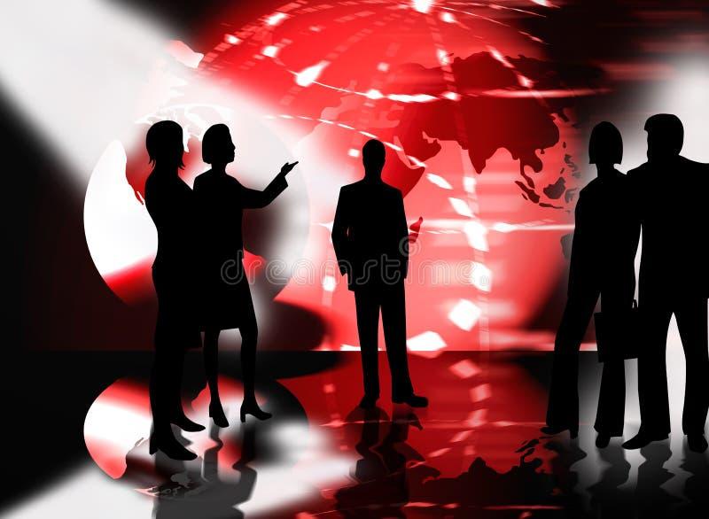 Geschäftsteam-Leutesitzung lizenzfreie abbildung