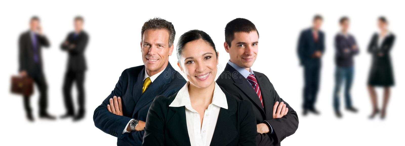 Geschäftsteam mit Kollegen lizenzfreie stockbilder