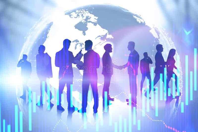Geschäftsteam und internationale Partnerschaft lizenzfreie stockfotografie