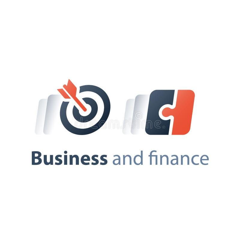 Geschäftstechnologiefirma, einfache Lösung, Puzzle kombinierte, Unternehmenslösung, Software-Integration und Entwicklung lizenzfreie abbildung