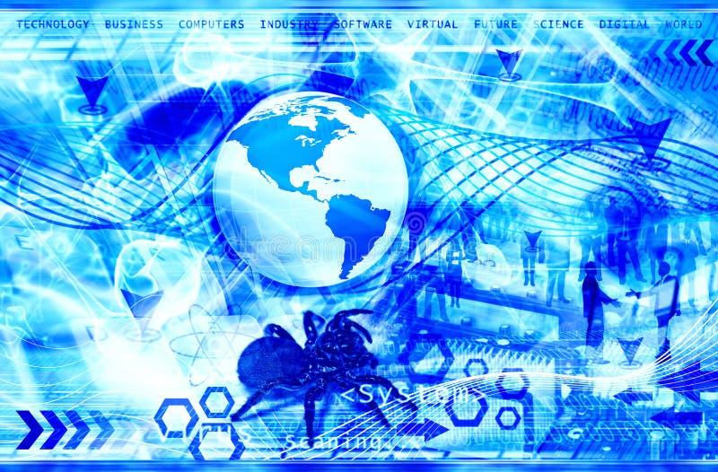 Geschäftstechnologiehintergrund lizenzfreies stockbild