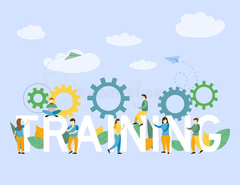 Geschäftstrainingskonzept für Unternehmenstrainingspersonal lizenzfreie abbildung