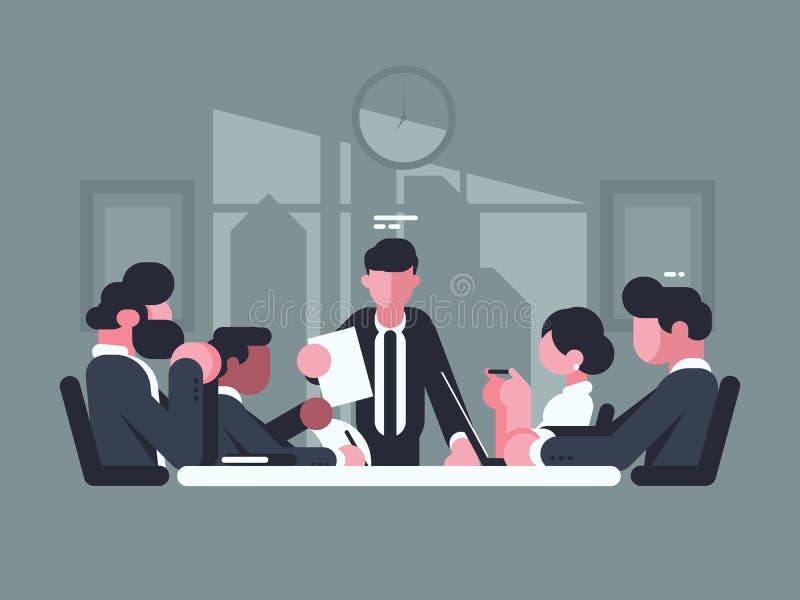 Geschäftstreffen im Büro stock abbildung