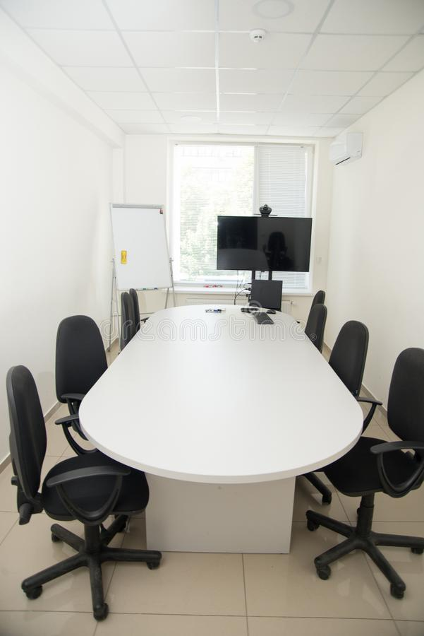 Geschäftstreffen-Raum- oder Chefetageinnenraum lizenzfreie stockbilder
