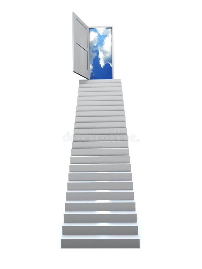 Geschäftstreppenhaus des Erfolgs 3D vektor abbildung