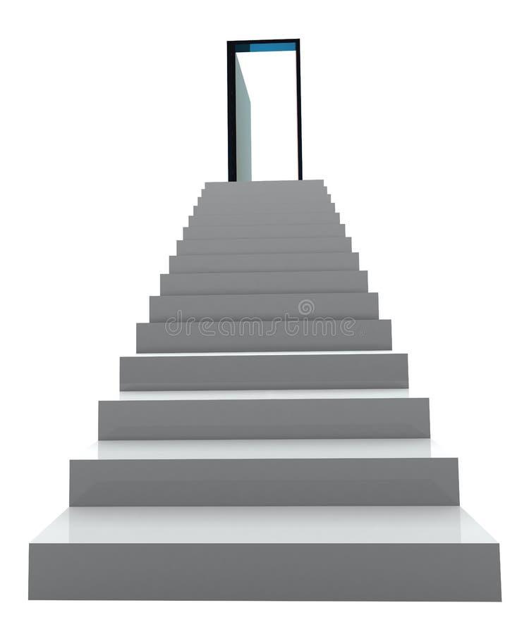 Geschäftstreppenhaus des Erfolgs 3D lizenzfreie abbildung