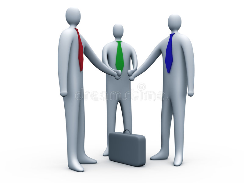 Geschäftsverbindung #2 lizenzfreie abbildung