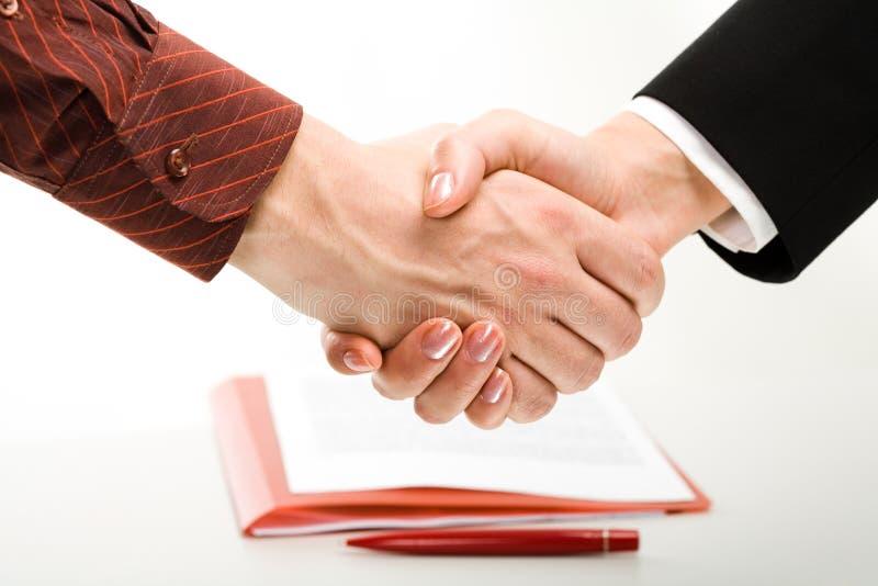 Geschäftsvereinbarung stockbild. Bild von händedruck, sitzung - 4206665