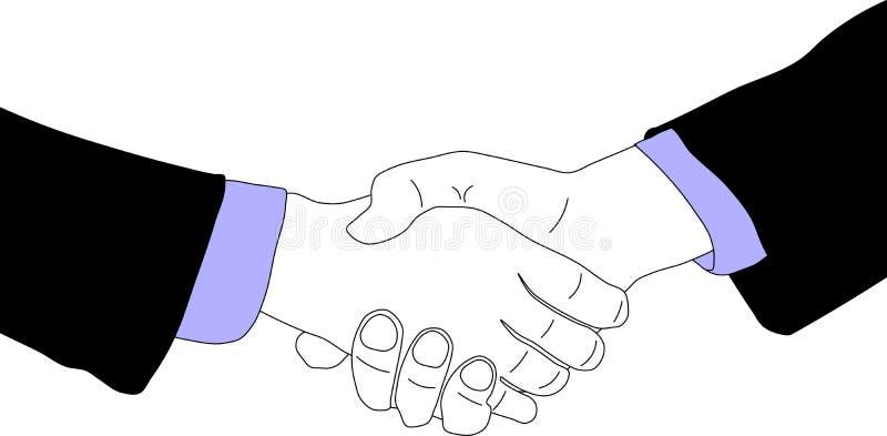 Geschäftsvereinbarung vektor abbildung. Illustration von ...