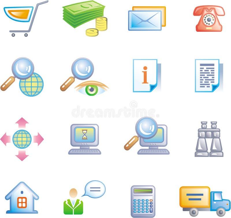 Geschäftsverkehr-Ikone eingestellt (Vektor) lizenzfreie abbildung