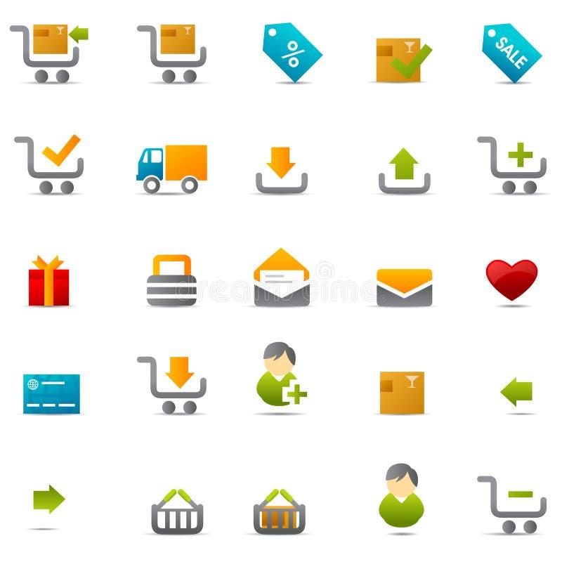 Geschäftsverkehrweb-Ikone lizenzfreie abbildung