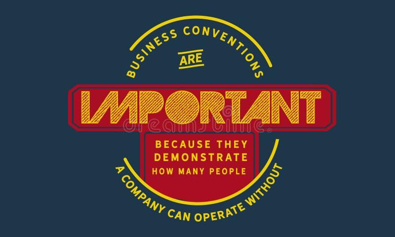 Geschäftsversammlungen sind wichtig, weil sie demonstrieren, wieviele Leute vektor abbildung