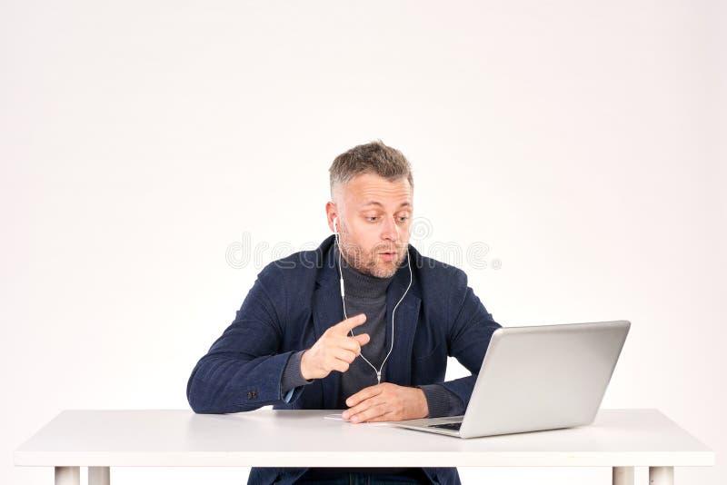 Geschäftsvideoanruf lizenzfreie stockfotografie
