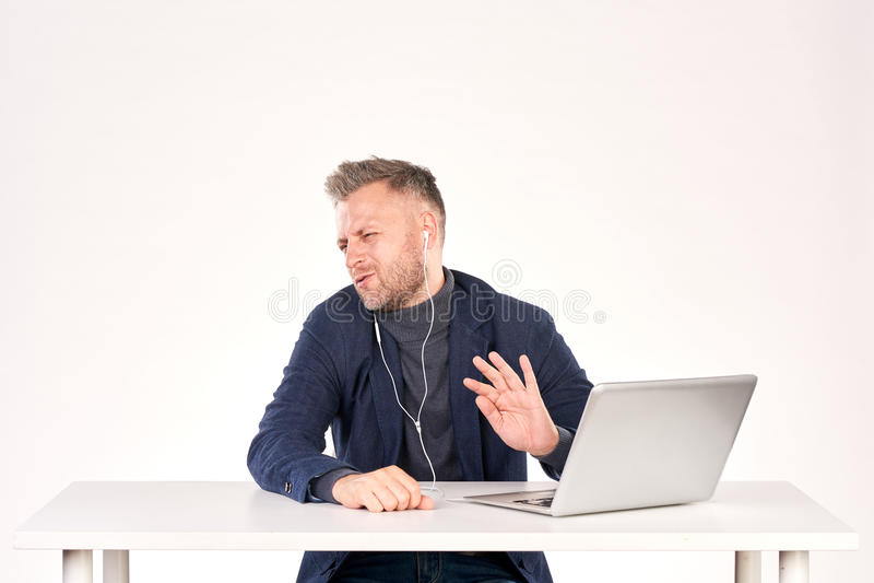Geschäftsvideoanruf stockfoto