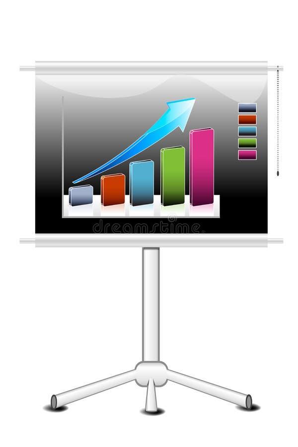 Geschäftswachstumdiagramm vektor abbildung