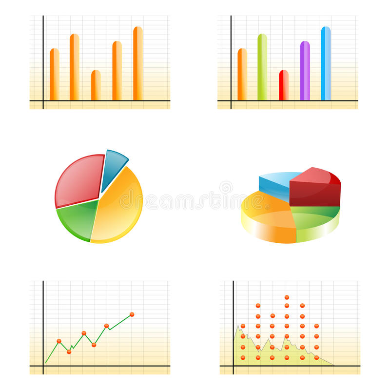 Geschäftswachstumdiagramme vektor abbildung