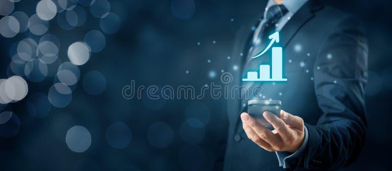 Geschäftswachstumsanalyse lizenzfreie stockfotos